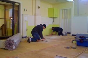 Installing the Hardwood