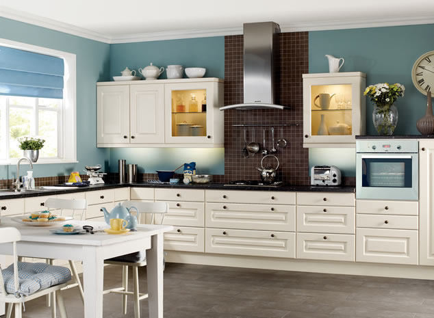 Decoratve Addition to Your Kitchen with White Cabinets ...