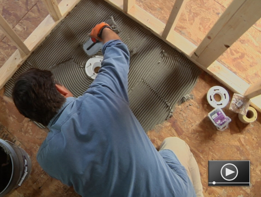 How to install a shower pan for Bathroom shower stall replacement