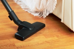 3-vacuuming the floors