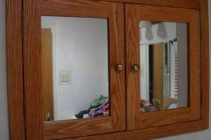 5-wooden recessed medicine cabinet