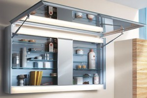 5-recessed medicine cabinet with mirrors wall spaces