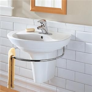 wall hung sink for small bathroom is a smart choice