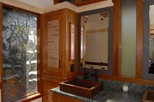 Arts and Craft Style Bathroom Cabinets