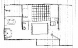 The Draft of Bathrooms Layout for Small Space
