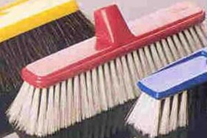 Bristle brush bathroom mold tile cleaning process