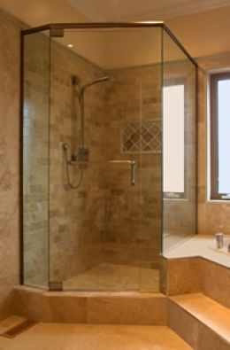 Small Bathroom Design on For Small Bathrooms 01 197x300 Corner Showers For Small Bathrooms