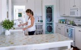 Glass Tile Countertop
