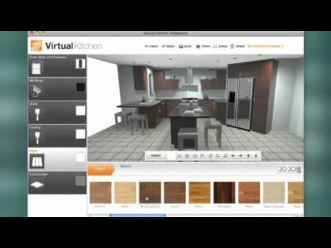 Home depot kitchen design tool the home depot kitchen Virtual kitchen planner