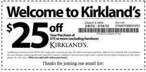 The Kirkland's Store Hours