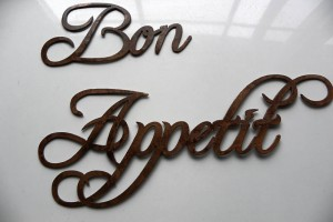 Kitchen Bon Appetite Metal words for walls
