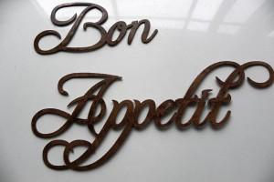 Kitchen Bon Appetite Metal words for walls