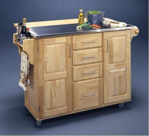 Moveable island small kitchen designs