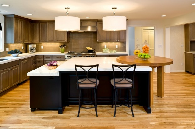 The Lovely Multi-Level Kitchen Island Designs