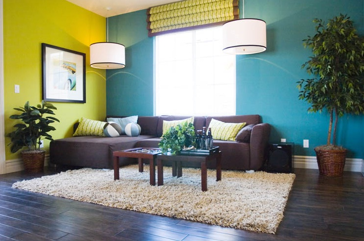 Wonderful Blue Green Brown Living Room 742 x 492 · 125 kB · jpeg