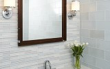 Simple bathroom makeovers project with the bathroom mirrors
