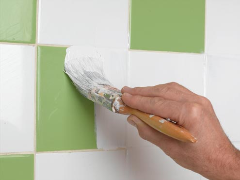 Tile paint for bathrooms tips for How to paint tiles bathroom