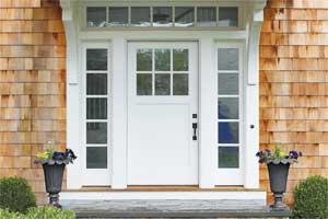 White popular and best exterior door paint colors idea