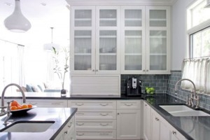 White Storage Cabinets with Doors