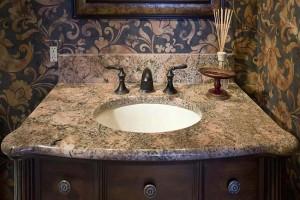 Bathroom Countertops with Built-in-Sinks