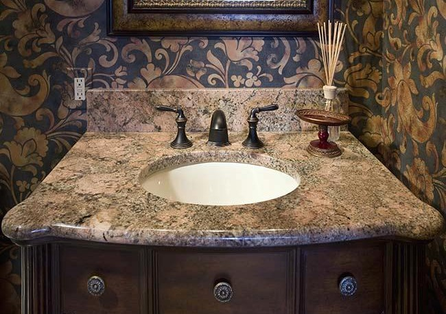 Bathroom Countertops With Built In Sinks