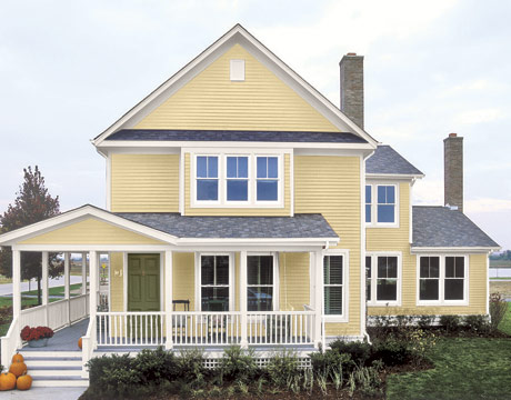 Choose the right exterior paint colors for your home - Selecting exterior paint colors concept ...