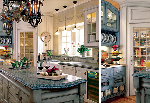 The Charm of Victorian Kitchen Design Cabinets