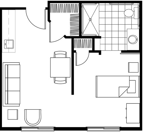 Bella Apartments Orlando Floor Plans (2343