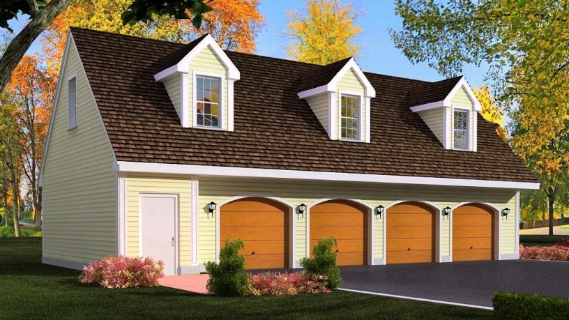 Detached garage plans with loft 2405 for Detached garage plans with loft