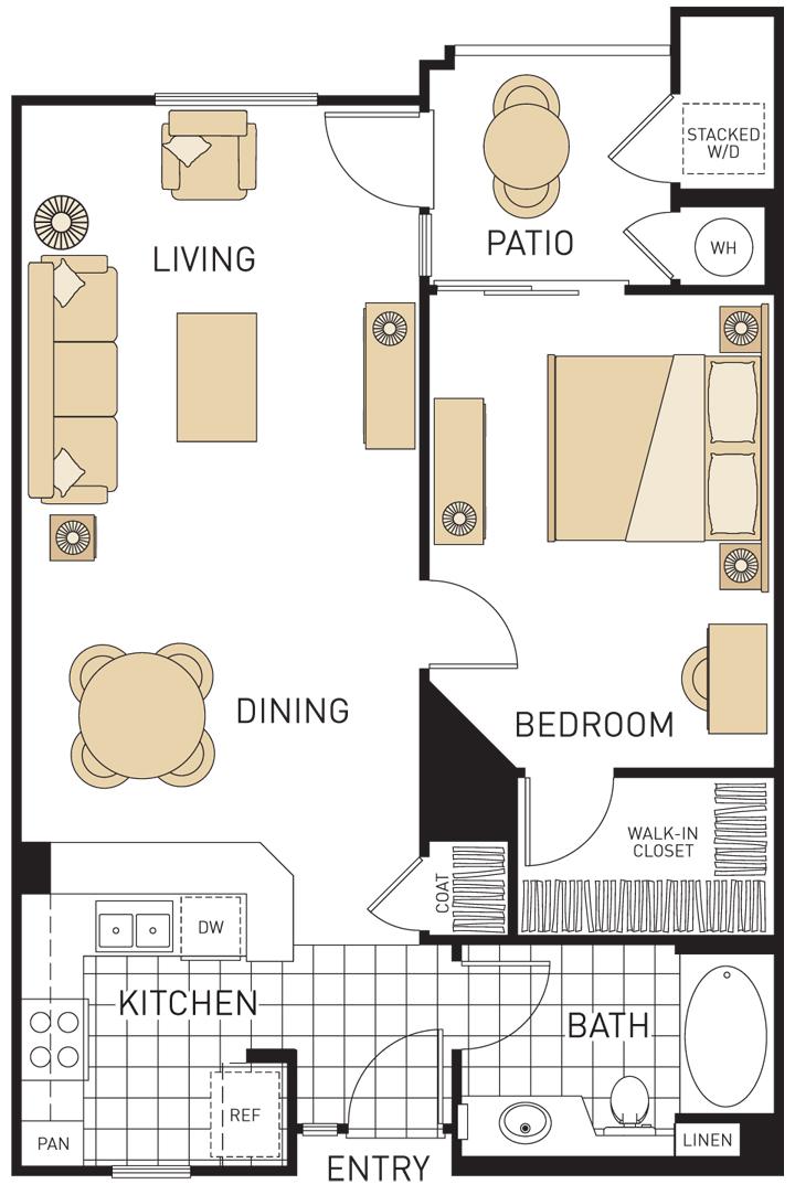 efficiency apartment floor plans design inspiration