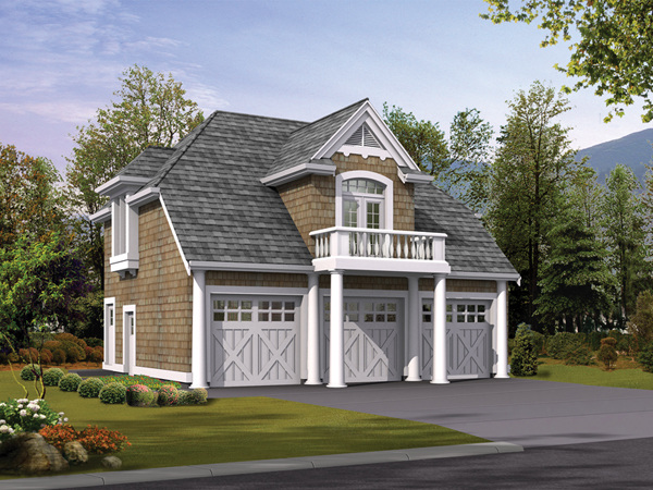 popular ideas of garage apartment plans with balcony