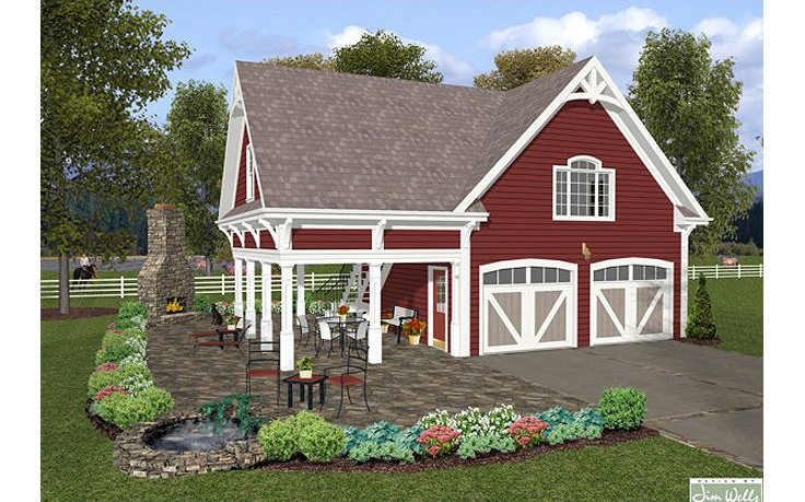 garage plans with balcony 2317