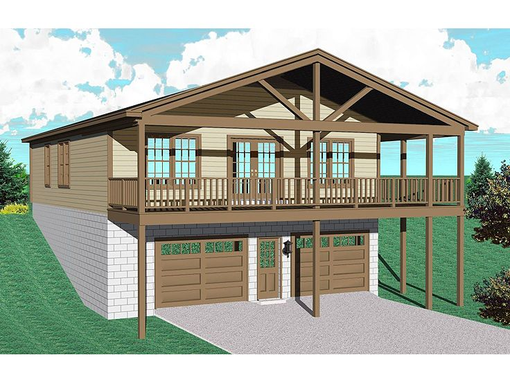 Garage plans and garage designs by design connection 2423 for Southern living garage apartment plans