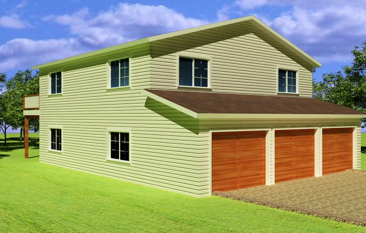 Garage Plans with Apt Above