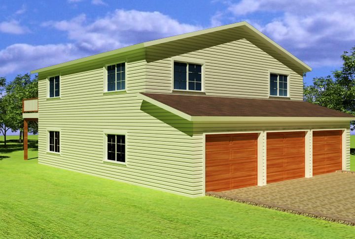 3 amazing apartment over garage plans for Home over garage plans