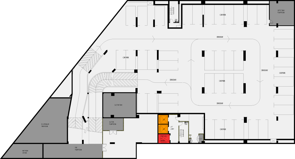 House plan with in law apartment 2448 for Basement apartment floor plans