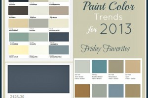 Popular Interior Colors 2013  Room Paint Ideas