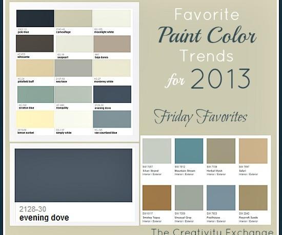Popular Interior Colors 2013  Room Paint Ideas