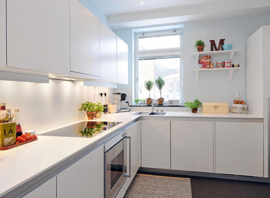 Chic modern pure white kitchen interior 2720 for Pure home designs