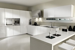 Simplistic white kitchen