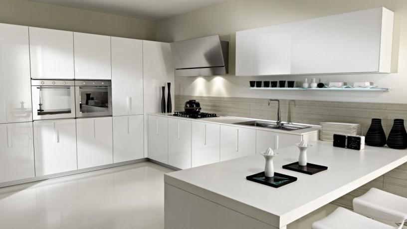 Simplistic white kitchen