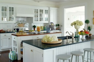 White kitchen interior design