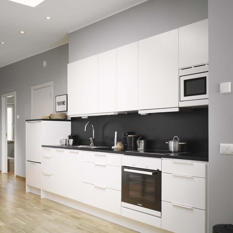 White Kitchen With Oak Wood Floor 2746